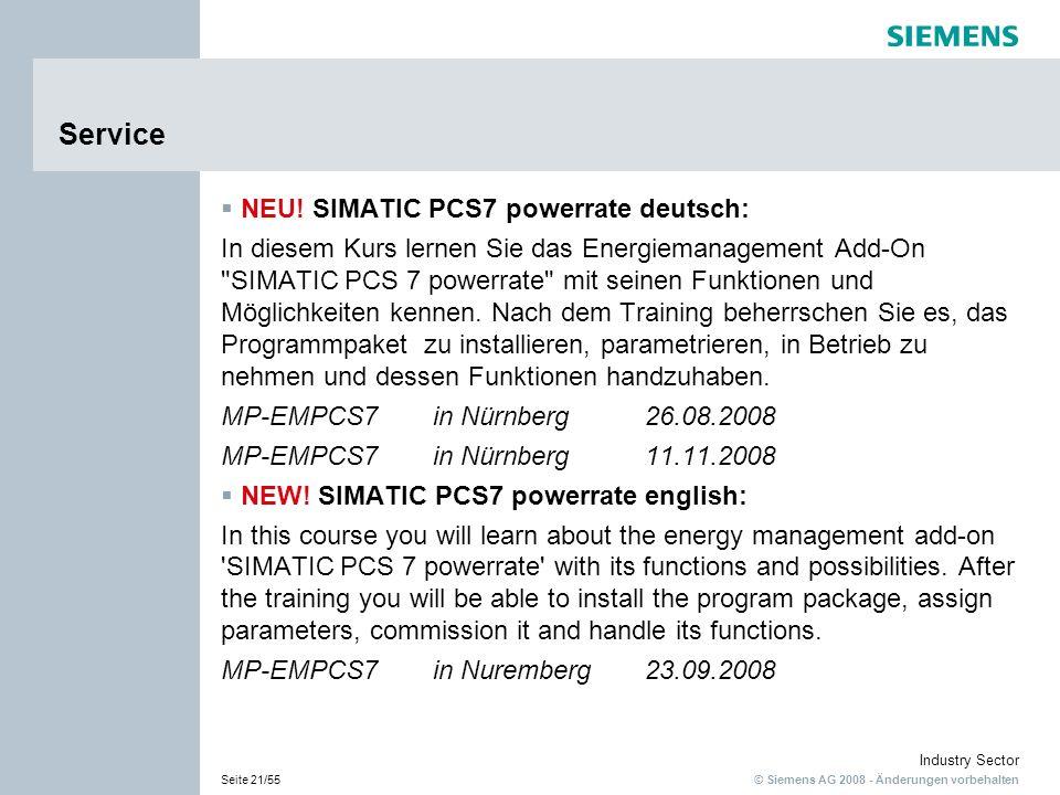 Service NEU! SIMATIC PCS7 powerrate deutsch: