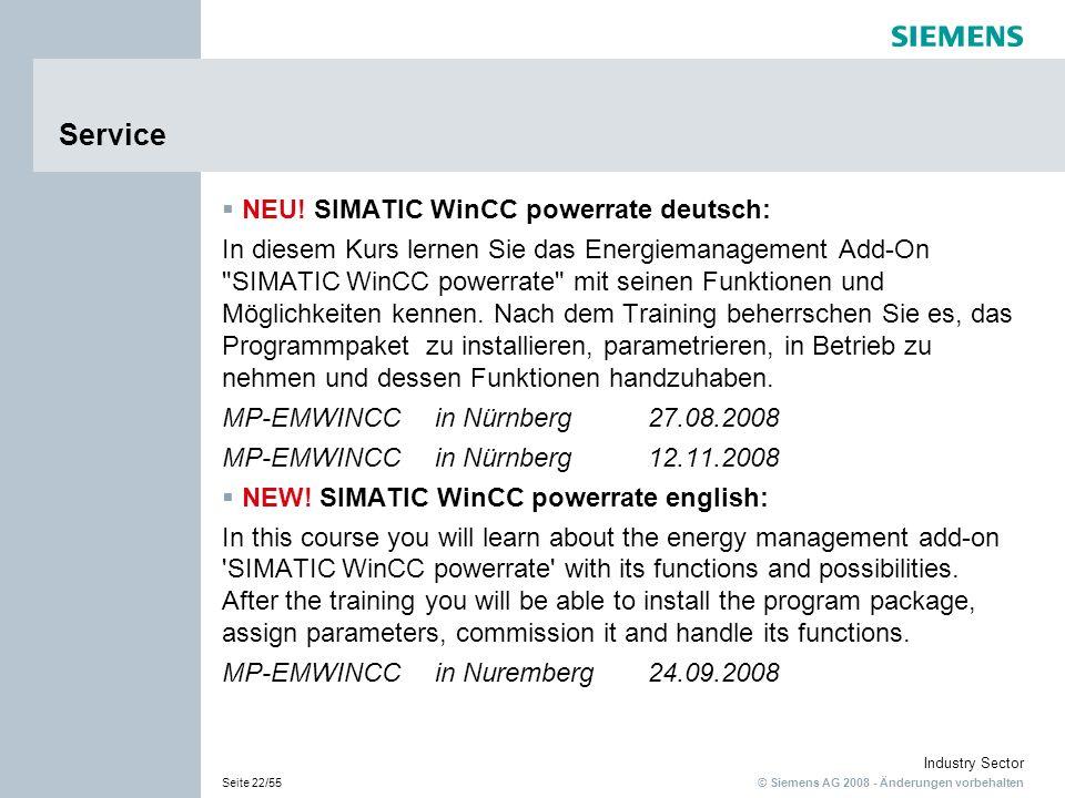 Service NEU! SIMATIC WinCC powerrate deutsch: