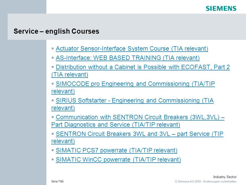 Service – english Courses