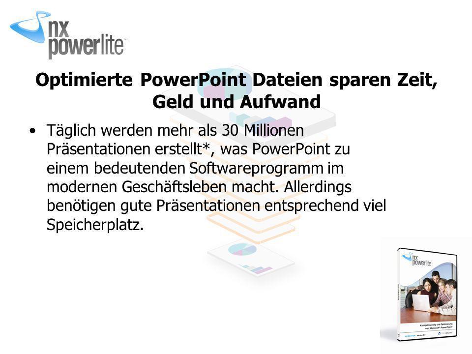Optimierte PowerPoint Dateien sparen Zeit, Geld und Aufwand