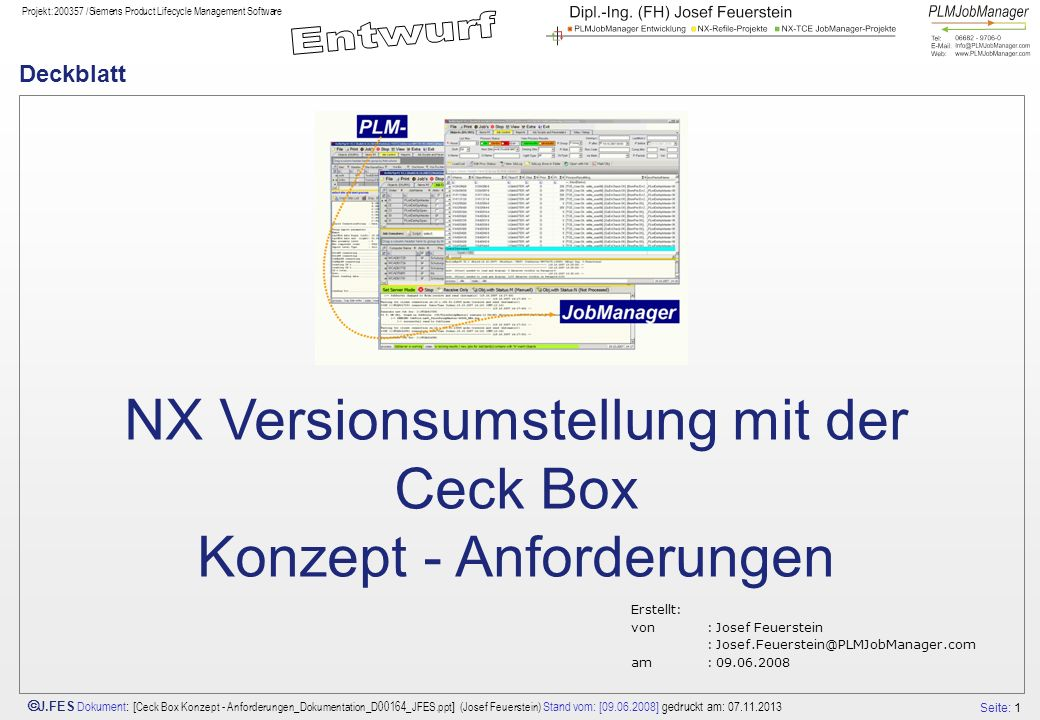 NX Versionsumstellung mit der Ceck Box Konzept - Anforderungen