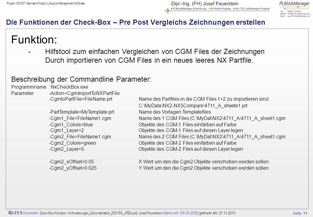 Die Funktionen der Check-Box – Pre Post Vergleichs Zeichnungen erstellen