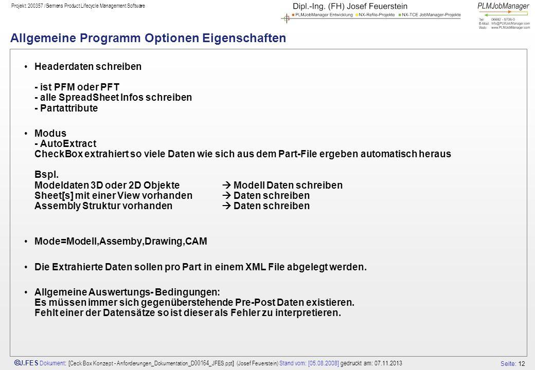 Allgemeine Programm Optionen Eigenschaften