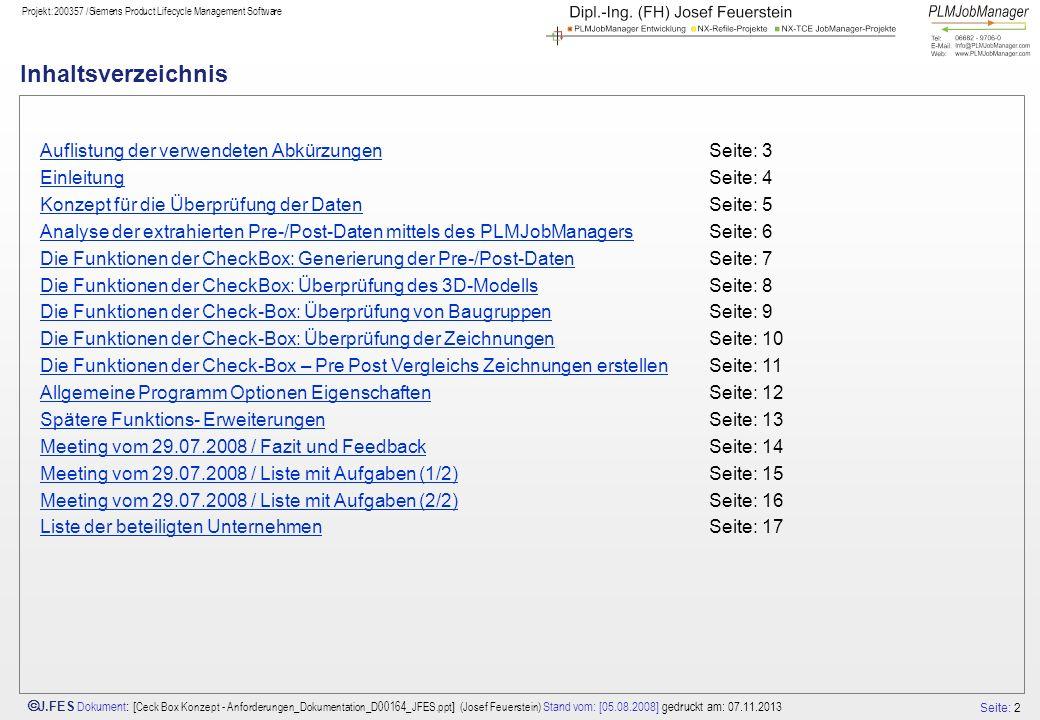 Inhaltsverzeichnis Auflistung der verwendeten Abkürzungen Seite: 3