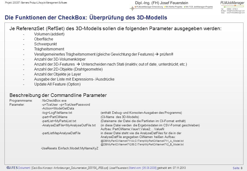 Die Funktionen der CheckBox: Überprüfung des 3D-Modells