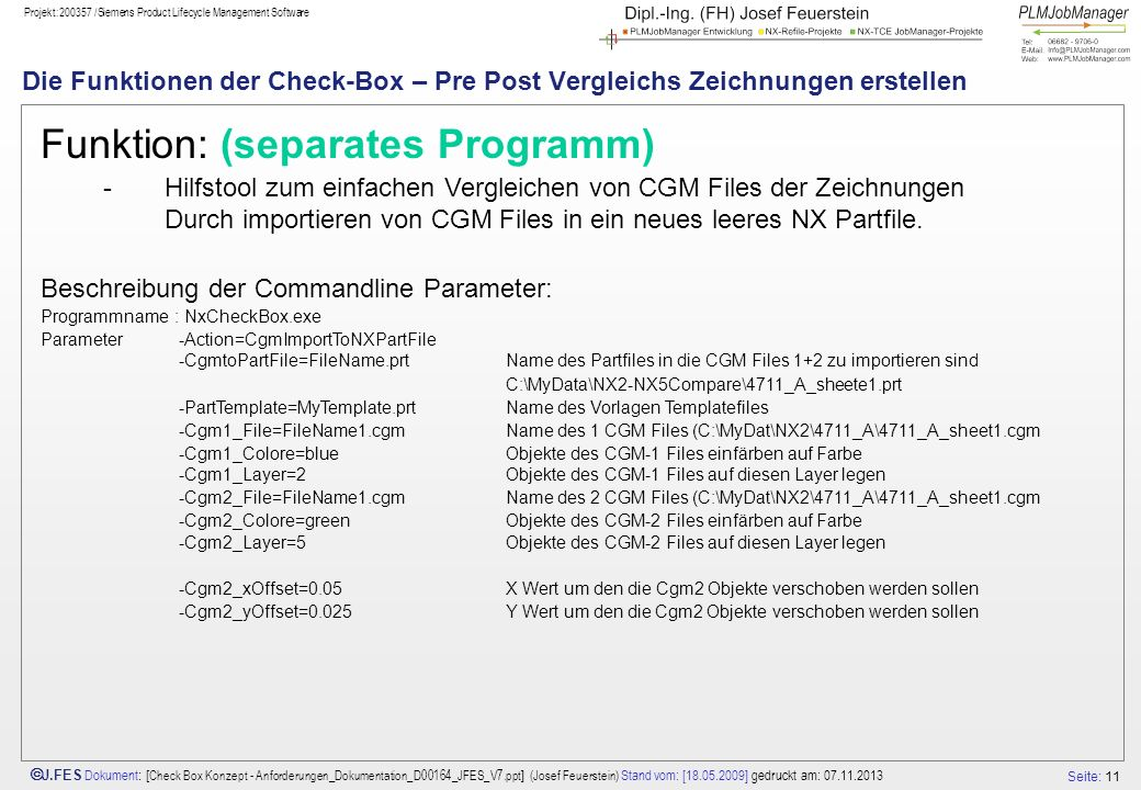 Funktion: (separates Programm)