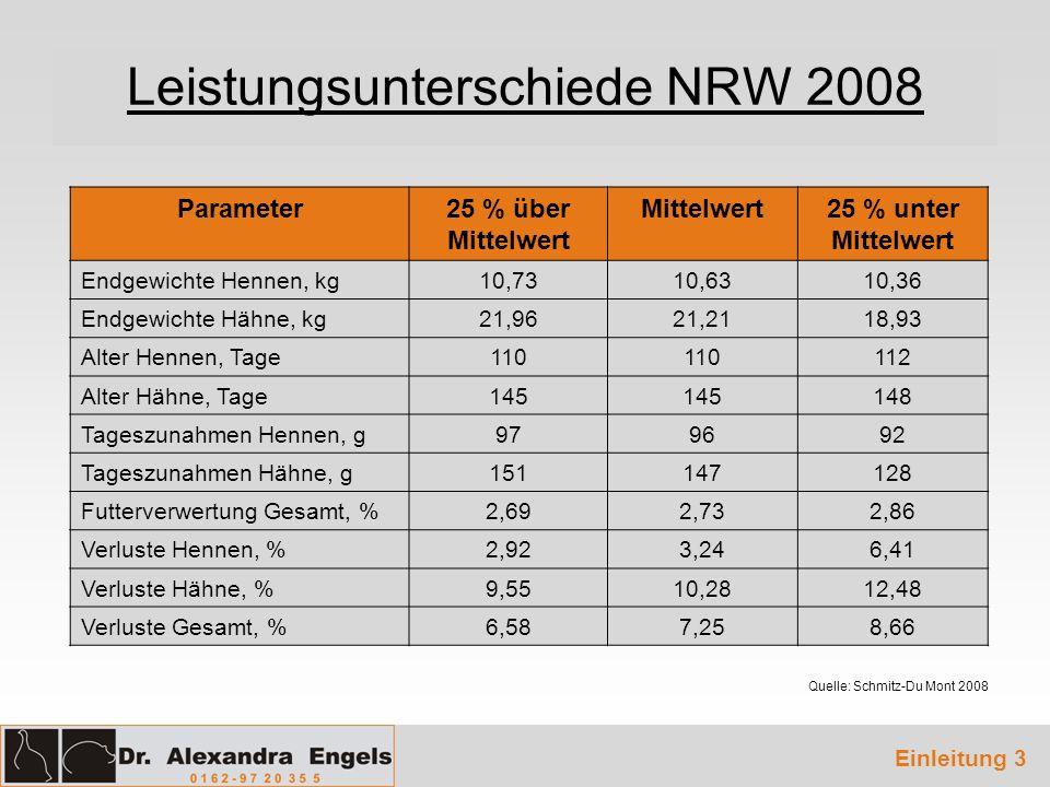 Leistungsunterschiede NRW 2008