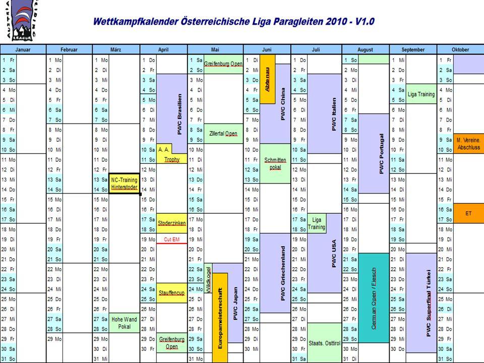 Voraussichtliche NC-Termine 2010
