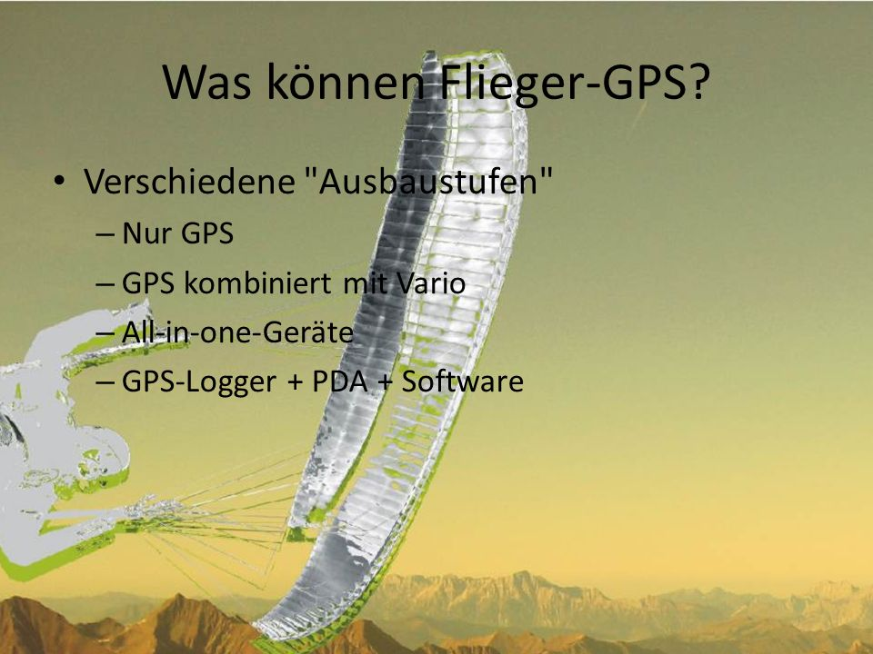 Was können Flieger-GPS