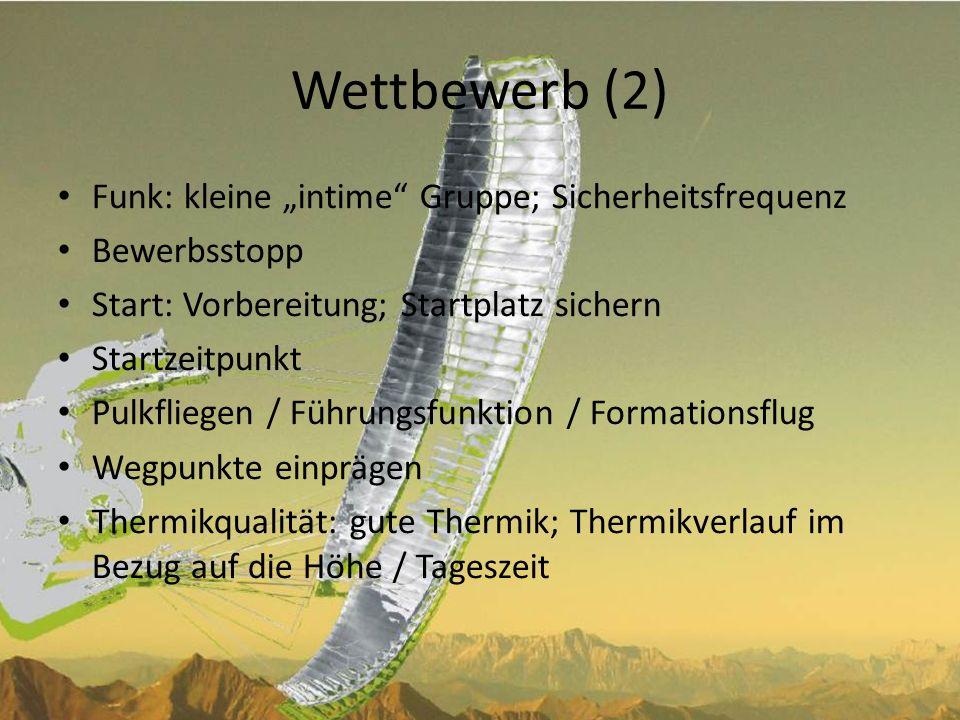 """Wettbewerb (2) Funk: kleine """"intime Gruppe; Sicherheitsfrequenz"""