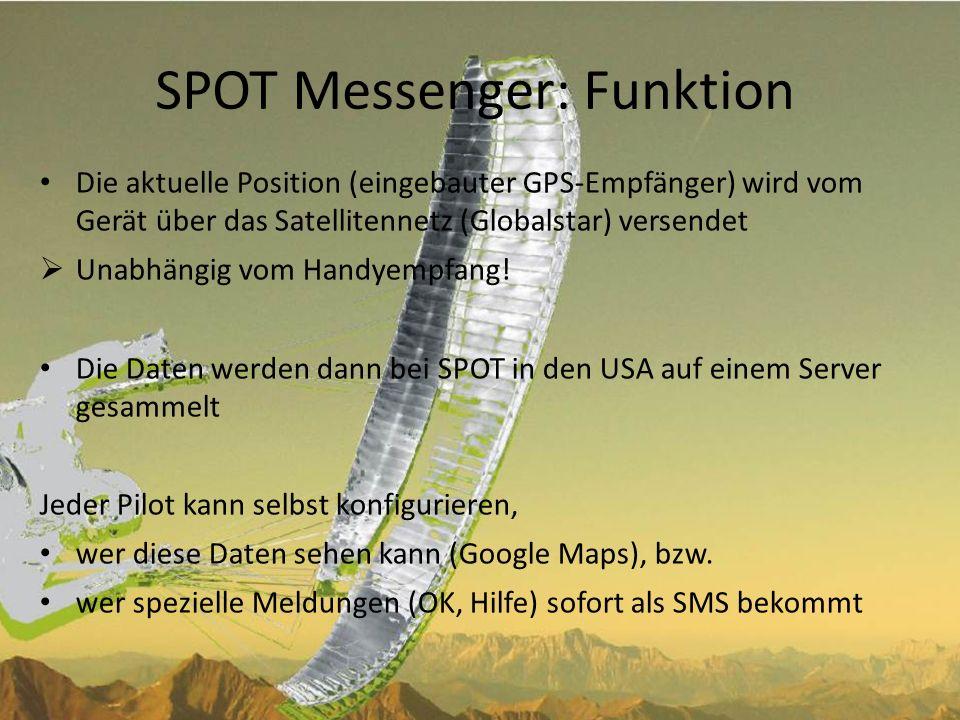 SPOT Messenger: Funktion