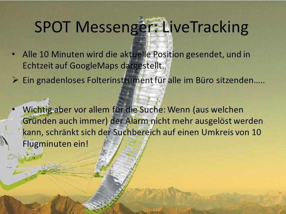 SPOT Messenger: LiveTracking