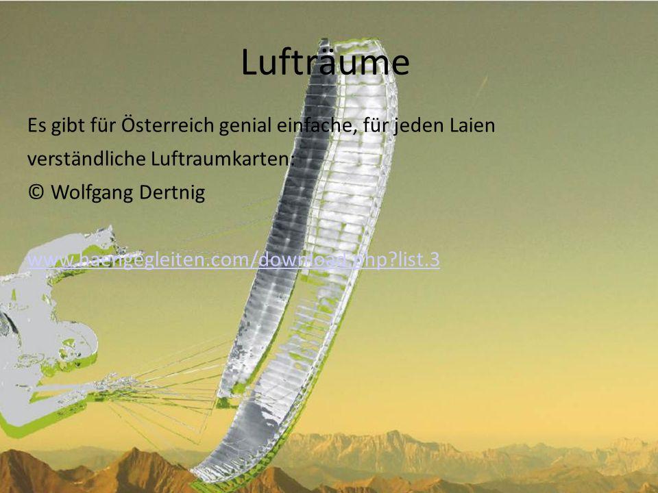 Lufträume Es gibt für Österreich genial einfache, für jeden Laien