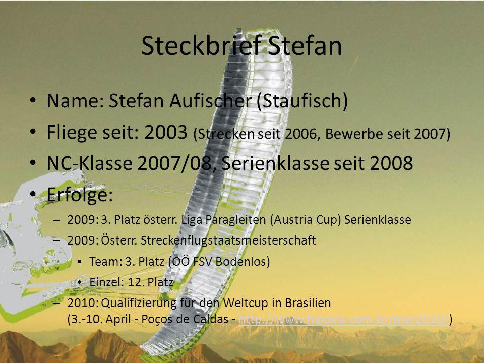 Steckbrief Stefan Name: Stefan Aufischer (Staufisch)