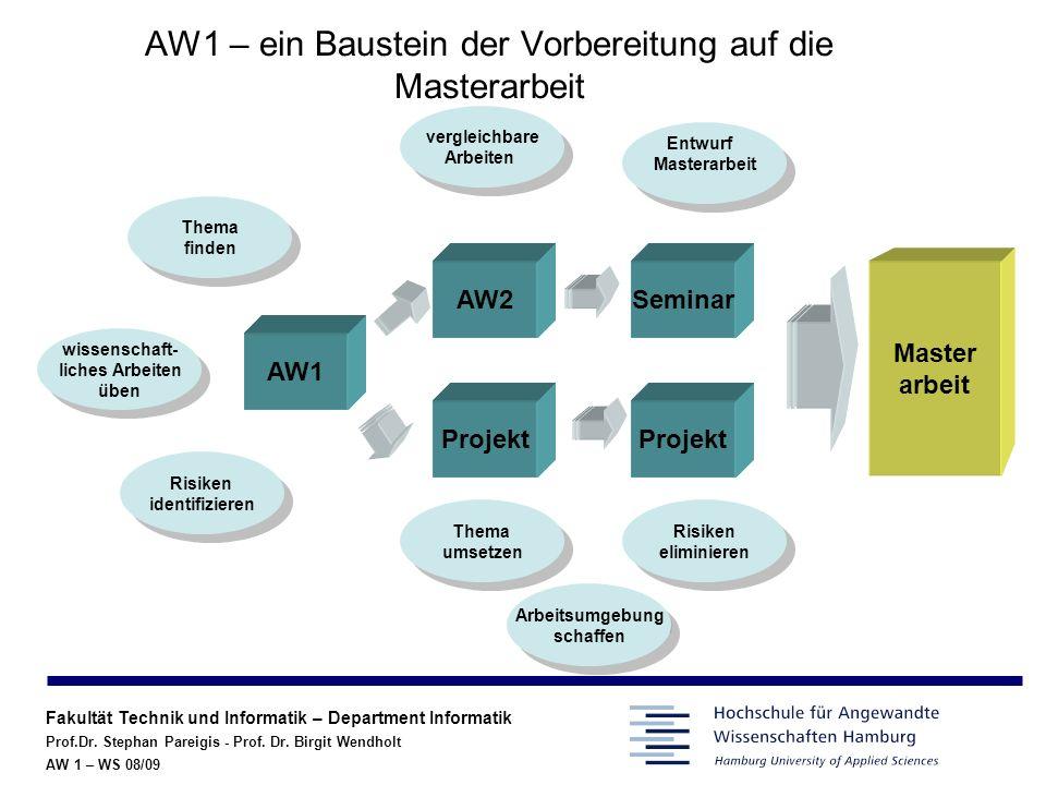 AW1 – ein Baustein der Vorbereitung auf die Masterarbeit
