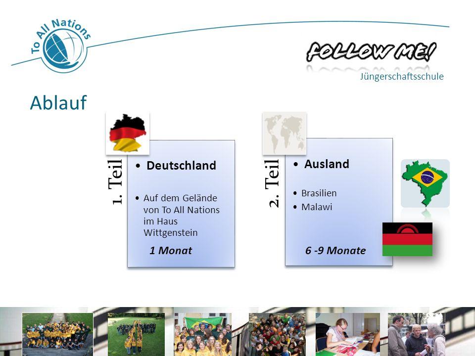 Ablauf Deutschland Ausland 1 Monat 6 -9 Monate Jüngerschaftsschule