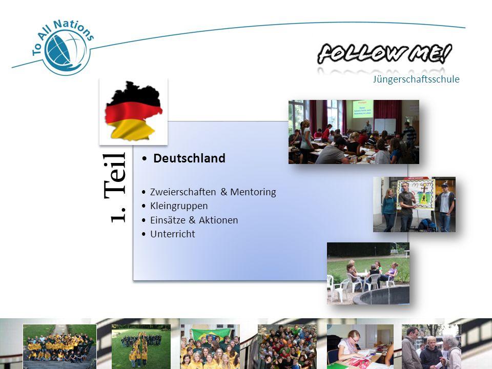 Deutschland Jüngerschaftsschule Zweierschaften & Mentoring