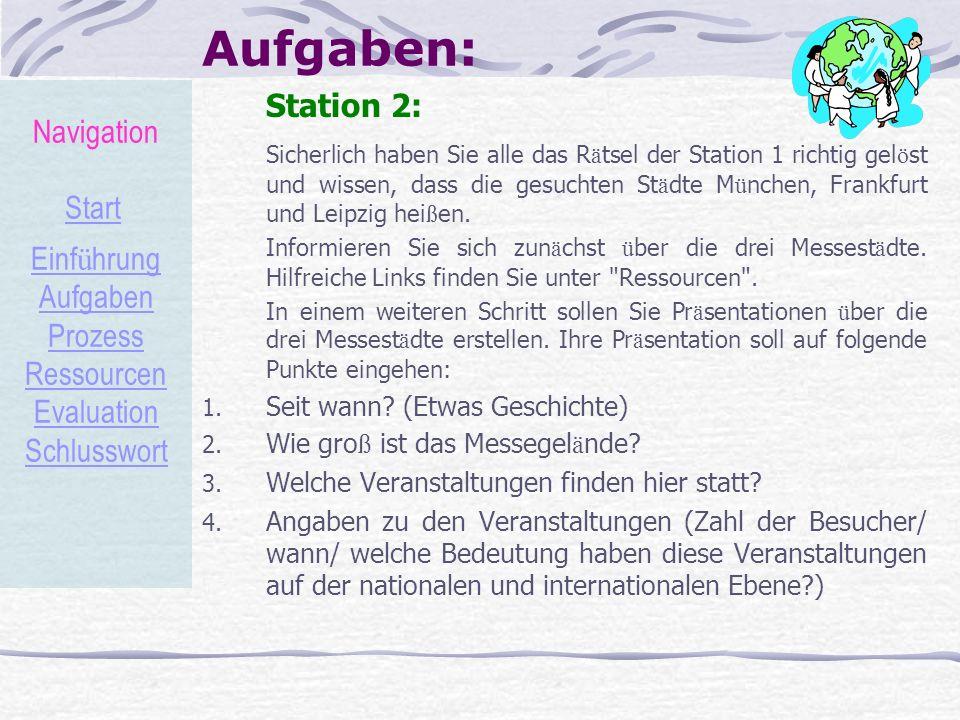 Aufgaben: Navigation Station 2: