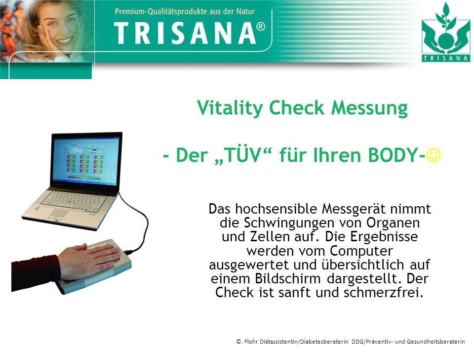 """Vitality Check Messung - Der """"TÜV für Ihren BODY-"""
