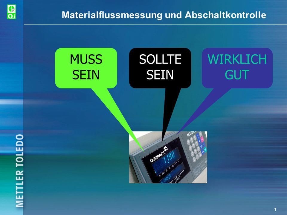 Materialflussmessung und Abschaltkontrolle