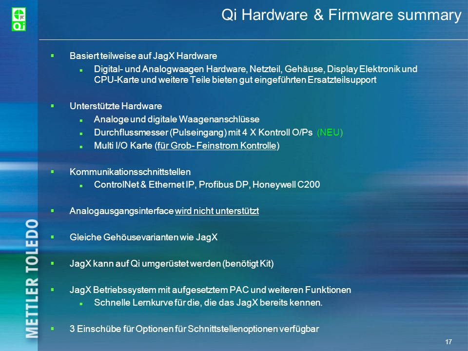 Qi Hardware & Firmware summary