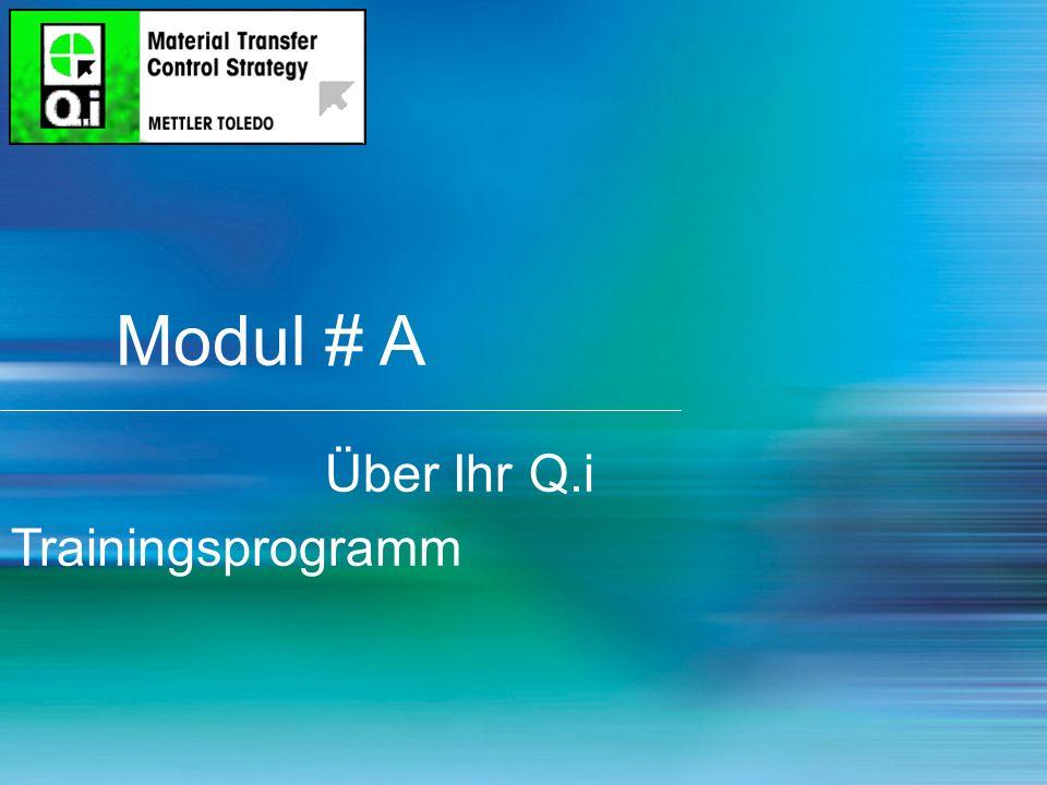 Modul # A Über Ihr Q.i Trainingsprogramm