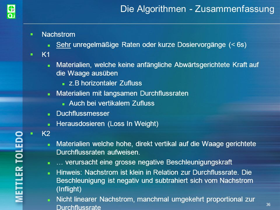 Die Algorithmen - Zusammenfassung