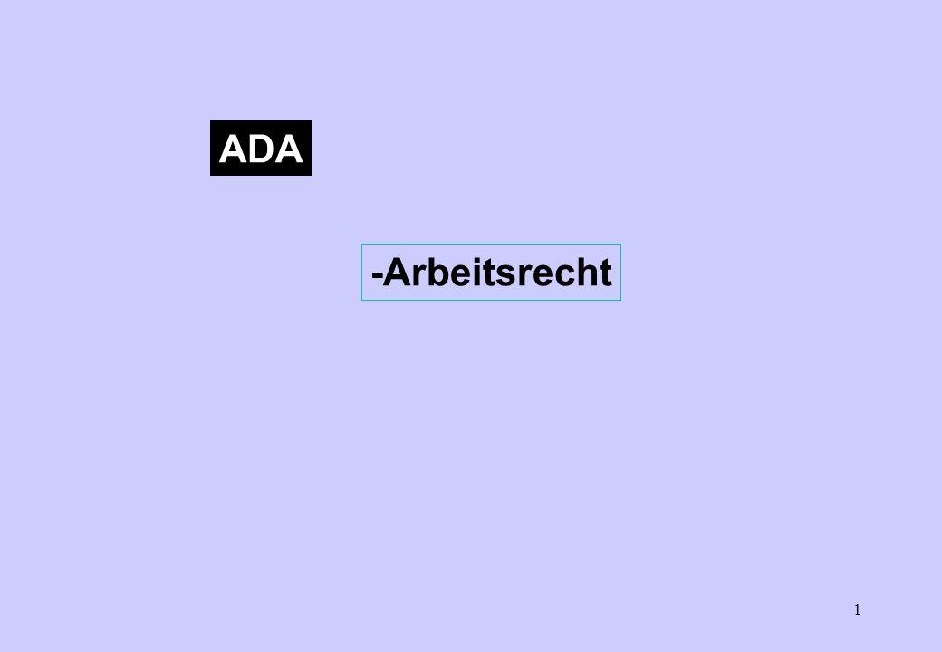 ADA -Arbeitsrecht