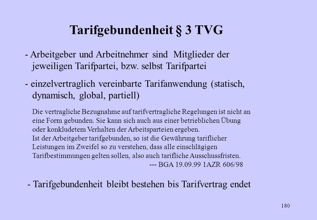 Tarifgebundenheit § 3 TVG