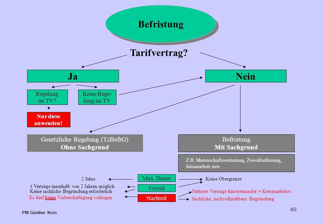 Gesetzliche Regelung (TzBefrG)