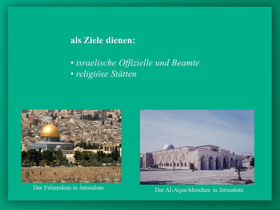 israelische Offizielle und Beamte religiöse Stätten