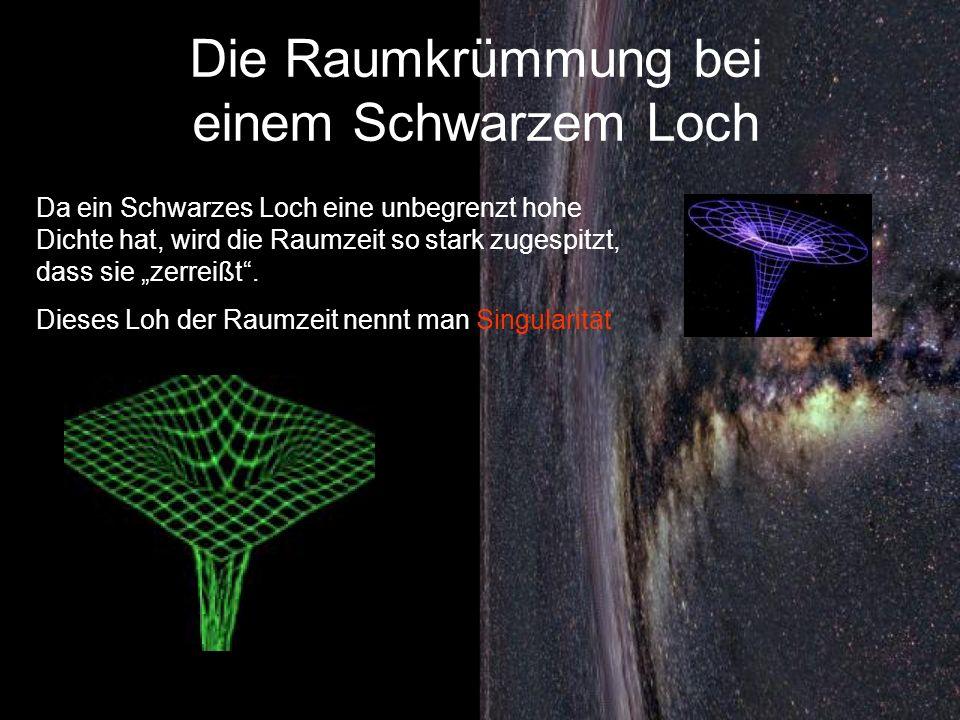 Die Raumkrümmung bei einem Schwarzem Loch