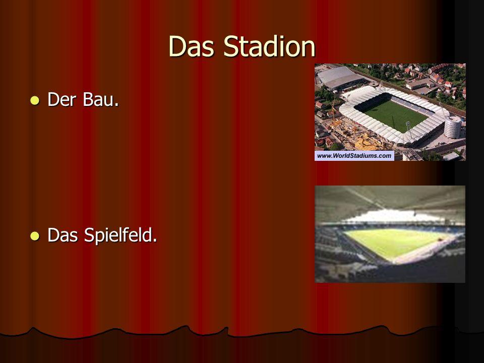 Das Stadion Der Bau. Das Spielfeld.
