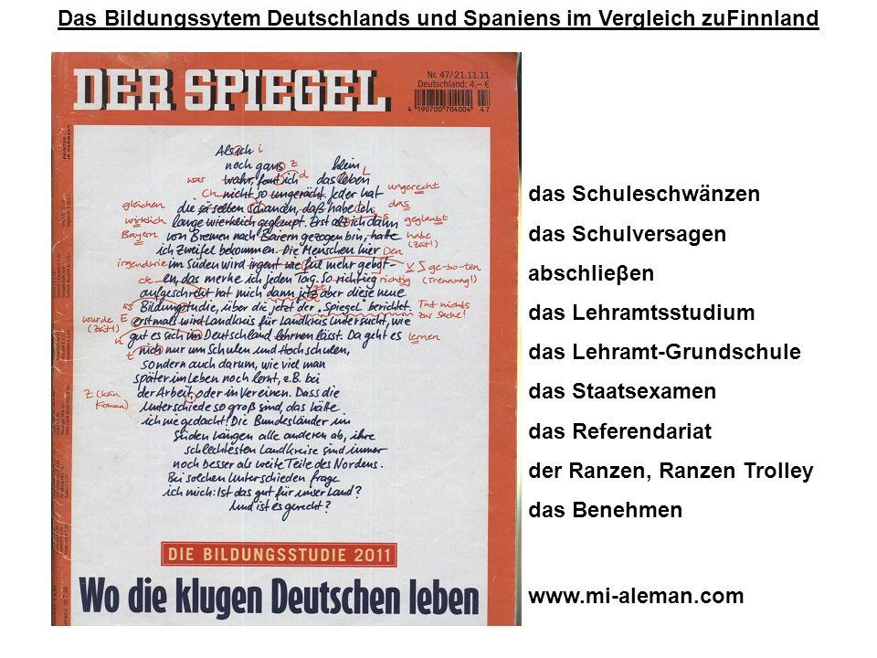 Das Bildungssytem Deutschlands und Spaniens im Vergleich zuFinnland