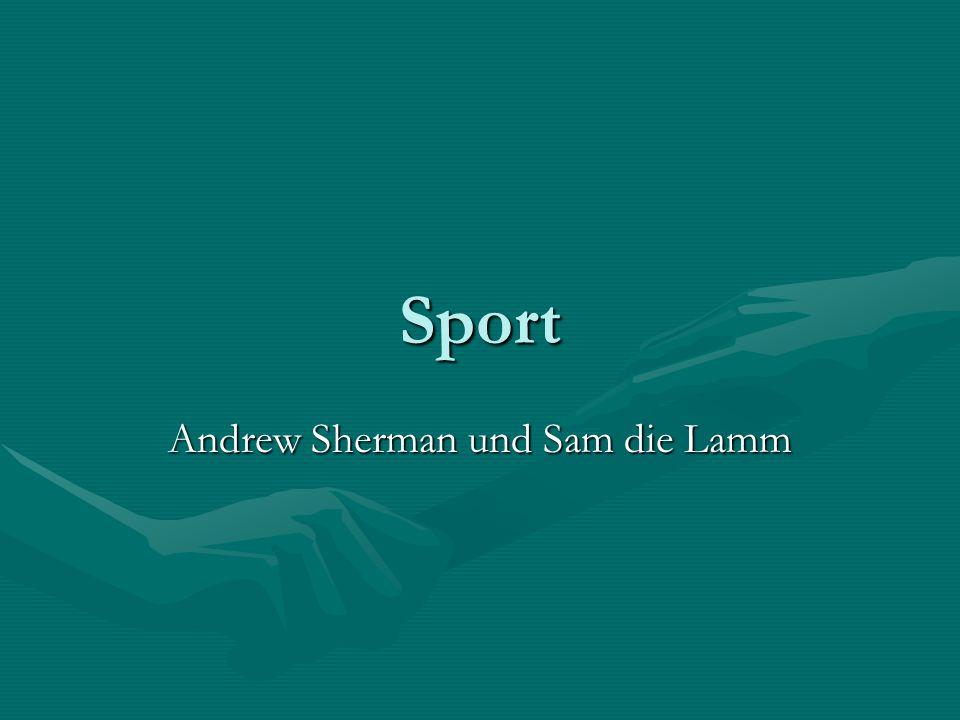 Andrew Sherman und Sam die Lamm