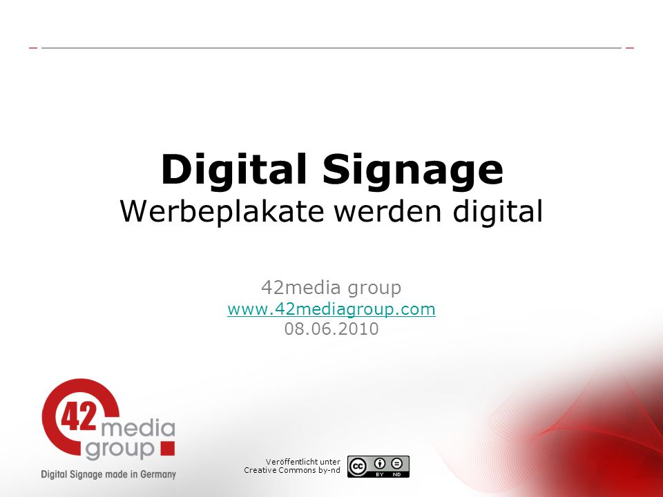 Digital Signage Werbeplakate werden digital 42media group www