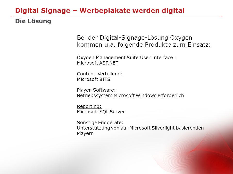 Digital Signage – Werbeplakate werden digital
