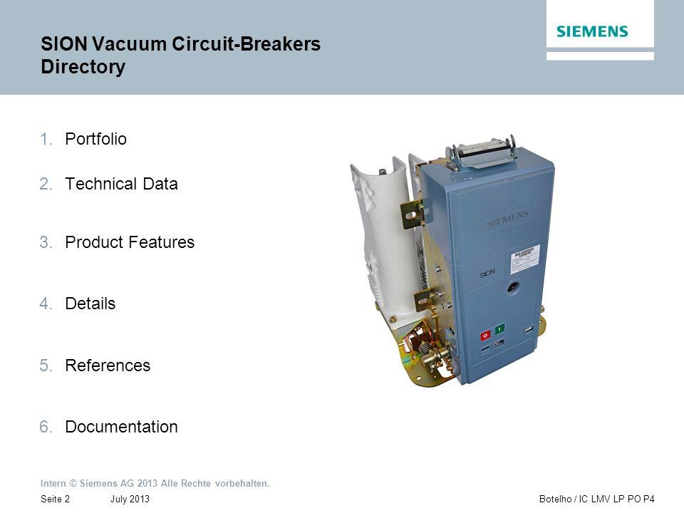 SION Vacuum Circuit-Breakers Directory