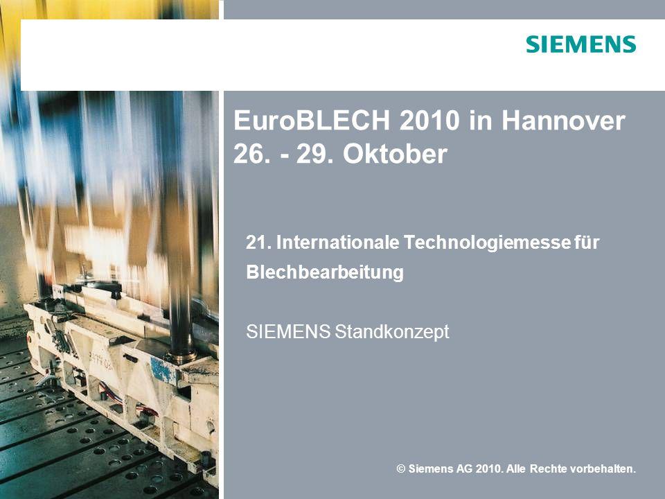 EuroBLECH 2010 in Hannover 26. - 29. Oktober
