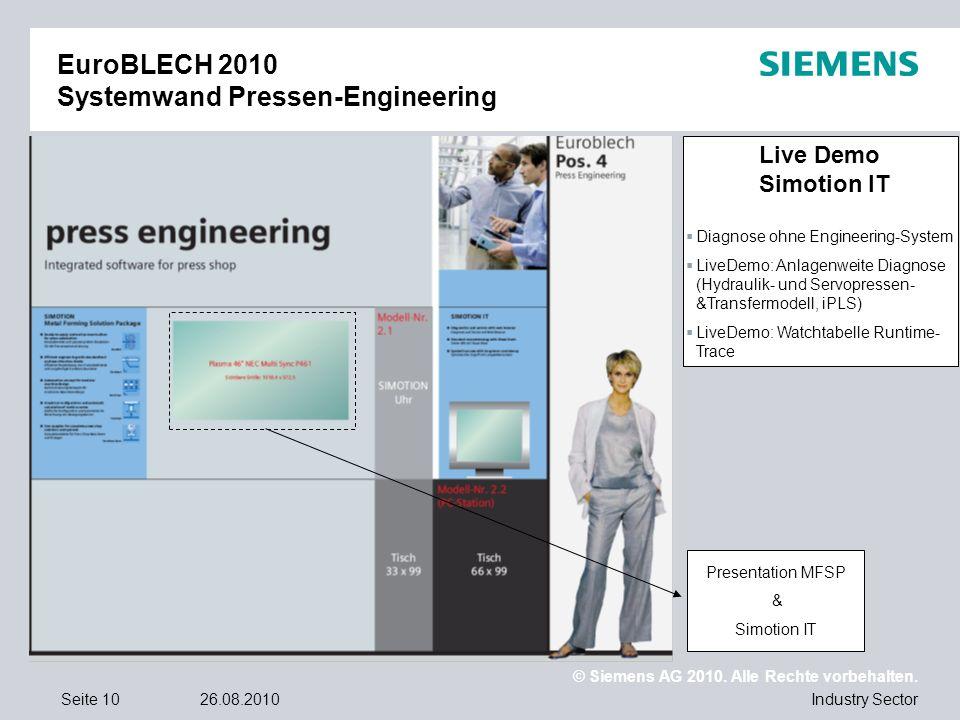EuroBLECH 2010 Systemwand Pressen-Engineering