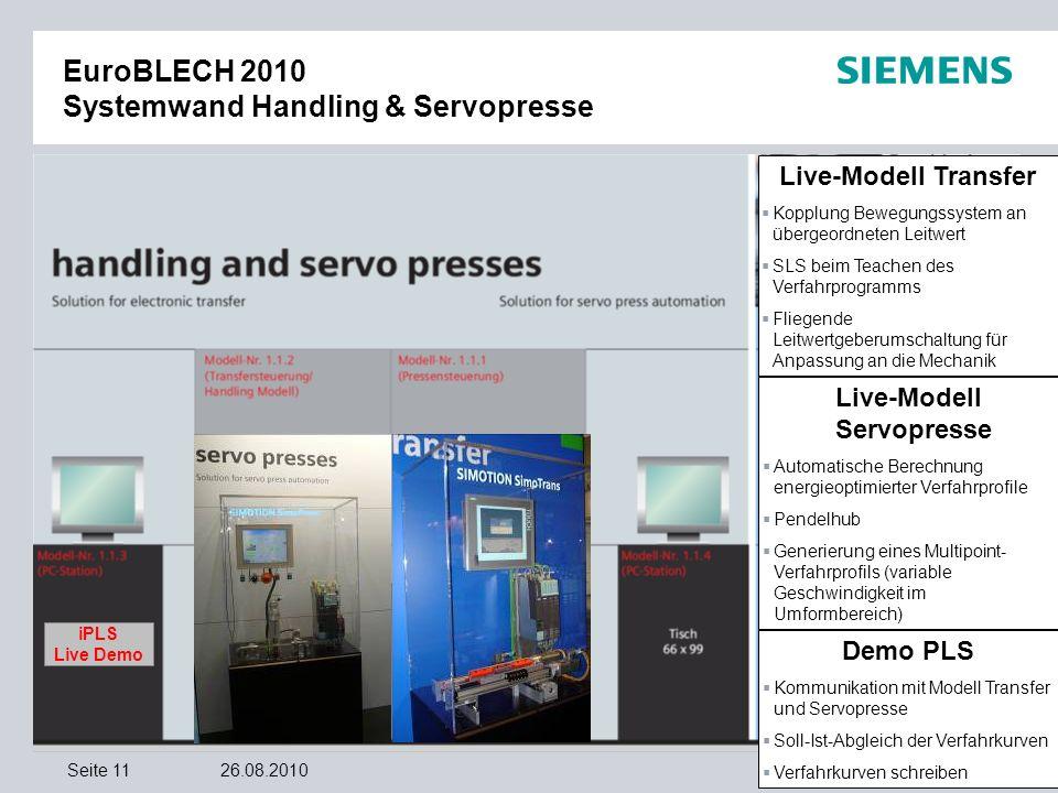 EuroBLECH 2010 Systemwand Handling & Servopresse