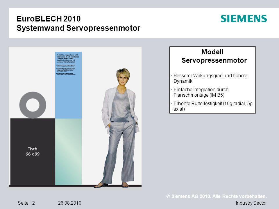 EuroBLECH 2010 Systemwand Servopressenmotor