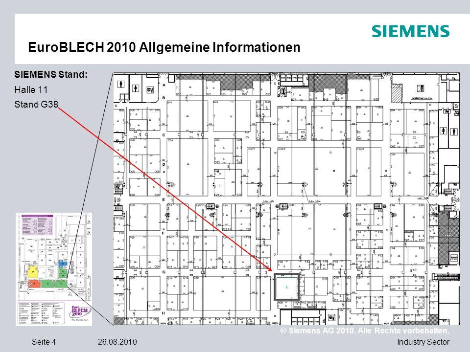 EuroBLECH 2010 Allgemeine Informationen