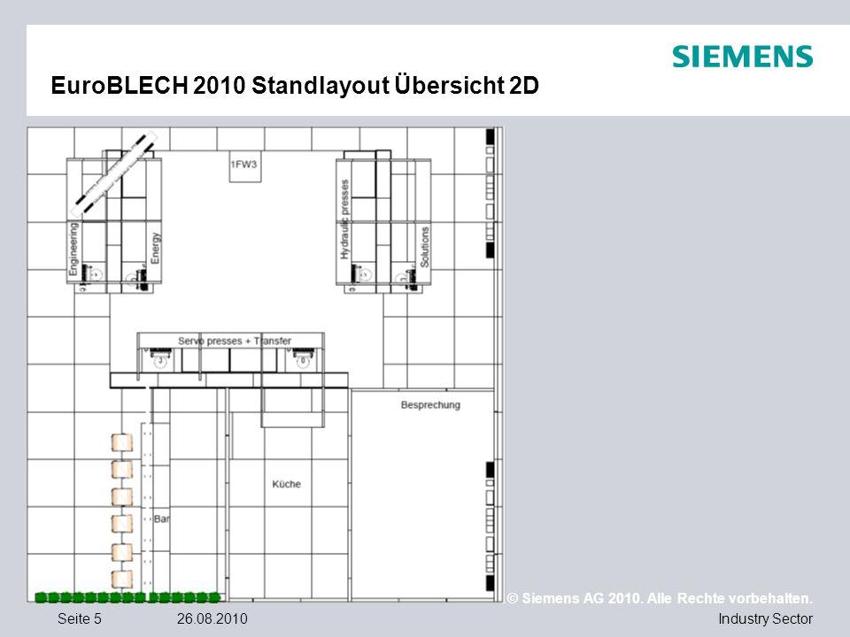 EuroBLECH 2010 Standlayout Übersicht 2D