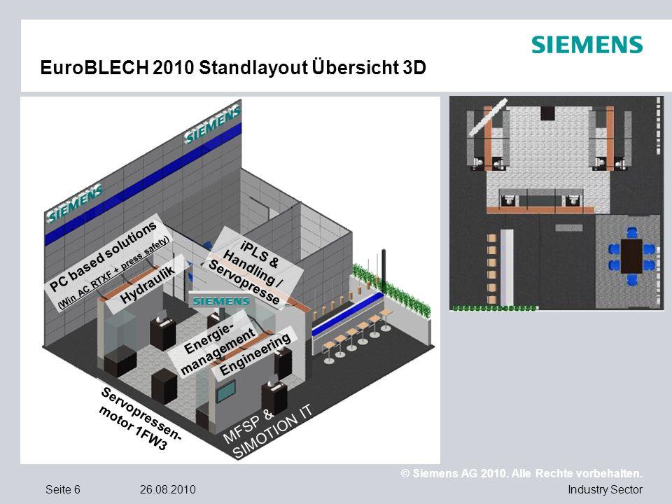 EuroBLECH 2010 Standlayout Übersicht 3D