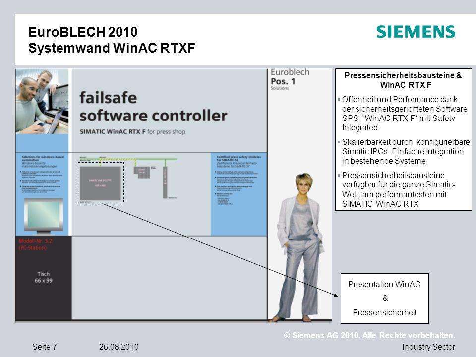 EuroBLECH 2010 Systemwand WinAC RTXF