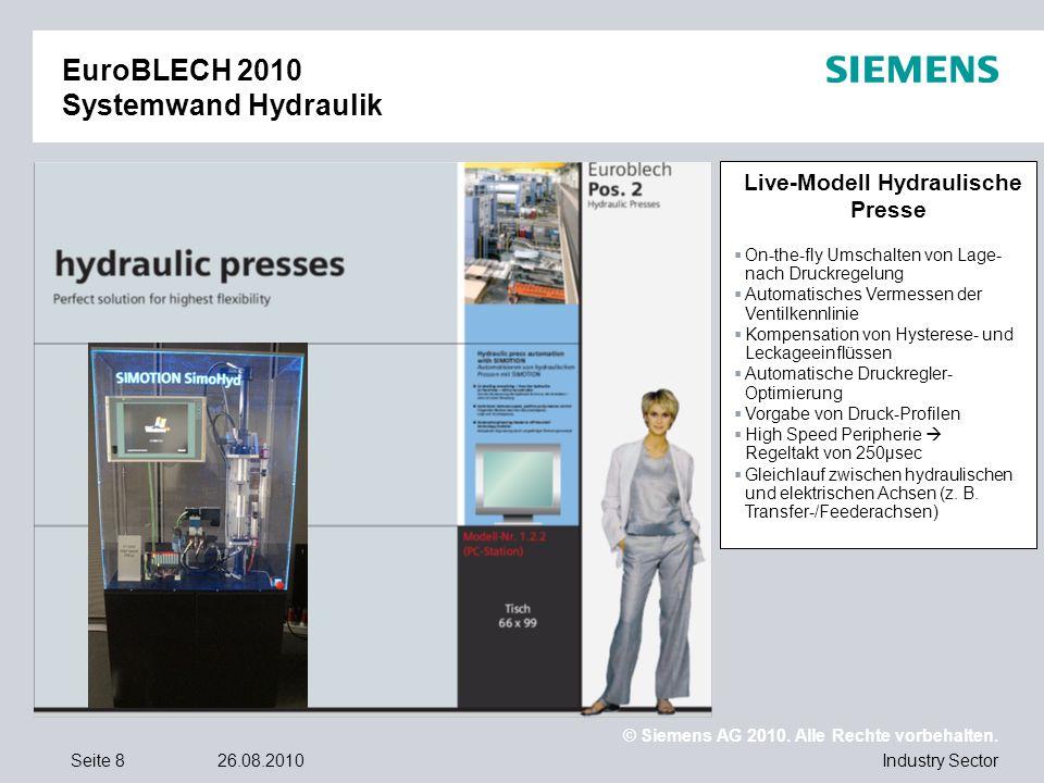 EuroBLECH 2010 Systemwand Hydraulik