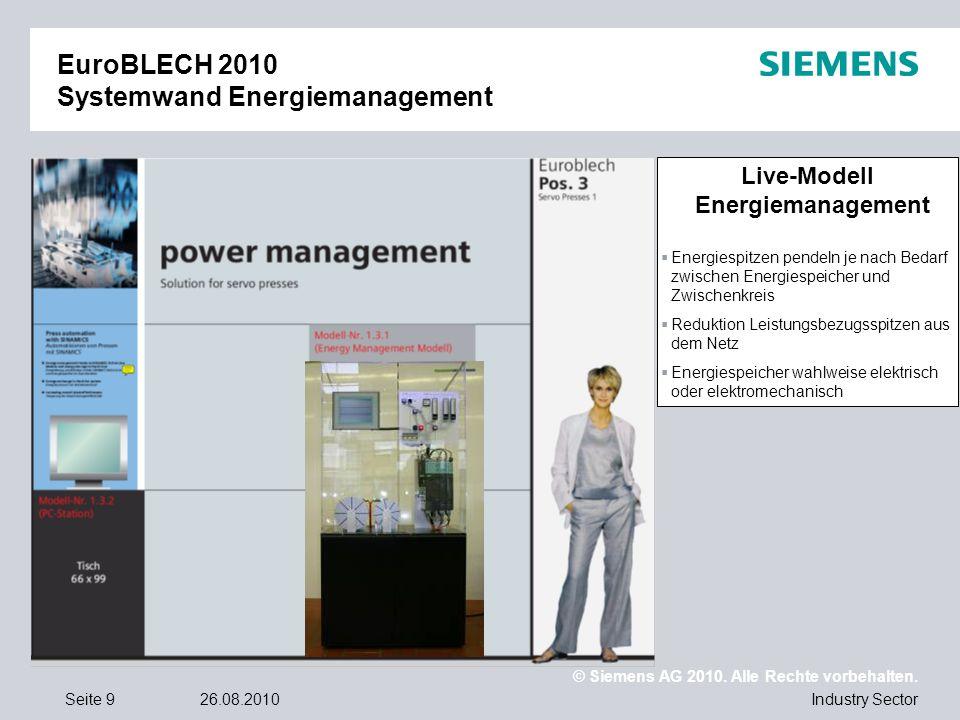 EuroBLECH 2010 Systemwand Energiemanagement