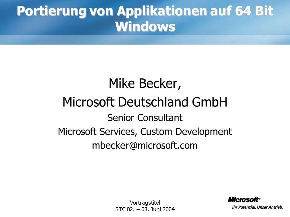 Portierung von Applikationen auf 64 Bit Windows