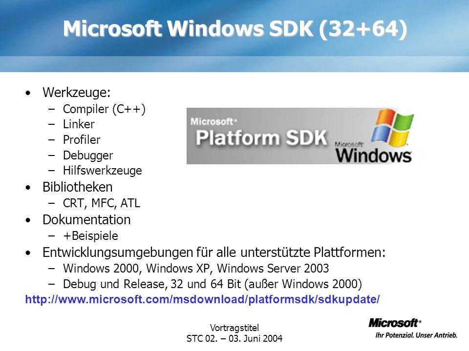 Microsoft Windows SDK (32+64)
